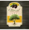 OLive oil label print vector image