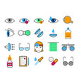 ophthalmology thin line icons set vector image vector image