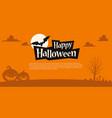 orange halloween background template vector image vector image