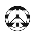 Peace symbol rainbow icon vector image