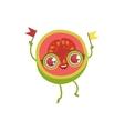 Pink Guava Girly Cartoon Character vector image vector image