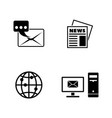 postal communication simple related icons vector image vector image
