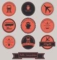 Public Transportation Label design vector image vector image