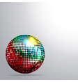 rainbow disco ball and shadow background vector image vector image
