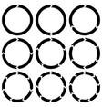 ring is broken into sectors circular arrows vector image