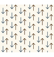 Seamless abstract pattern with arrows vector image vector image