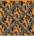 seamless faux leopard skin pattern with black and vector image vector image