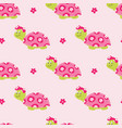 seamless pattern with cute turtles vector image vector image