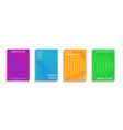 set colorful striped covers templates vector image