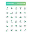 Set of 30 line icons education