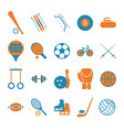 sport icon signs and symbols color set vector image vector image