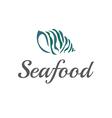 stylized seashells seaweed vector image
