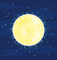 sun star in space in flat style vector image vector image