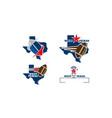 texas football template vector image vector image