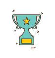 trophy icon design vector image vector image