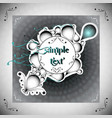 vintage bw frame with a little color vector image vector image