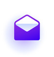 web icon open envelope purple gradient vector image