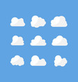 white cloud icon design set flat style vector image vector image