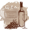 Wine bottle vector image vector image