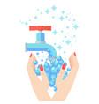 woman washing hands vector image