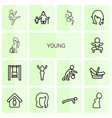 young icons vector image vector image