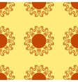 Ornament kaleidoscopic floral yantra Indian Art vector image