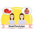 smart food plan poster vector image