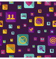 Social media flat icons seamless pattern vector image