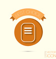 sheet of paper tablet with paper vector image