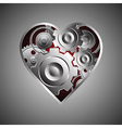 141metal heart vector image