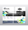 Abstract business Flyer design template in A4 size vector image vector image
