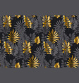 abstract leaves tropical seamless pattern vector image