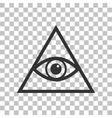 All seeing eye pyramid symbol Freemason and vector image vector image