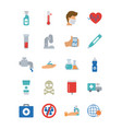 ambulance and covid19 19 concept icon set flat vector image vector image