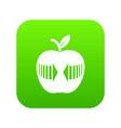 arrow apple icon green vector image vector image