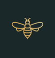 bee icon honey logo simple vector image vector image