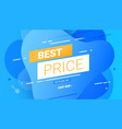 best price labels discounts up to 50 off vector image vector image