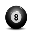 Billiard ball eight vector image vector image