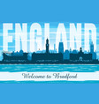 bradford united kingdom city skyline silhouette vector image vector image