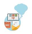 Business online sale icons vector image