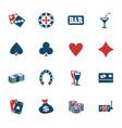 casino icon set vector image vector image