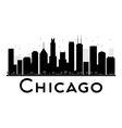 Chicago silhouette vector image vector image