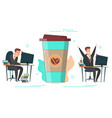 coffee energy concept for web banner vector image vector image