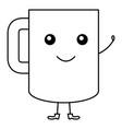 coffee mug kawai character vector image vector image