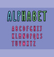 colorful font alphabet modern font minimalist vector image vector image