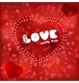 Design red card Love heart vector image vector image