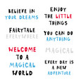 different phrases vector image vector image
