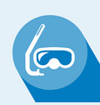diving mask icon vector image