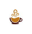 drink coffee logo icon design vector image vector image
