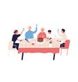 family celebration grandparents birthday vector image vector image